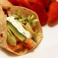 Shrimp Taco Wraps with Cilantro Sour Cream
