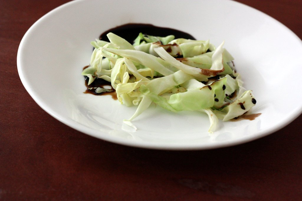 Cabbage with Reduced Balsamic Drizzle