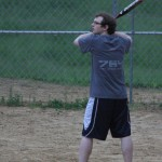 Erik Playing Softball