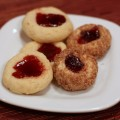 Raspberry Cream Cheese Thumbprints