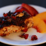Blackened Salmon with Caramelized Red Pepper and Onion