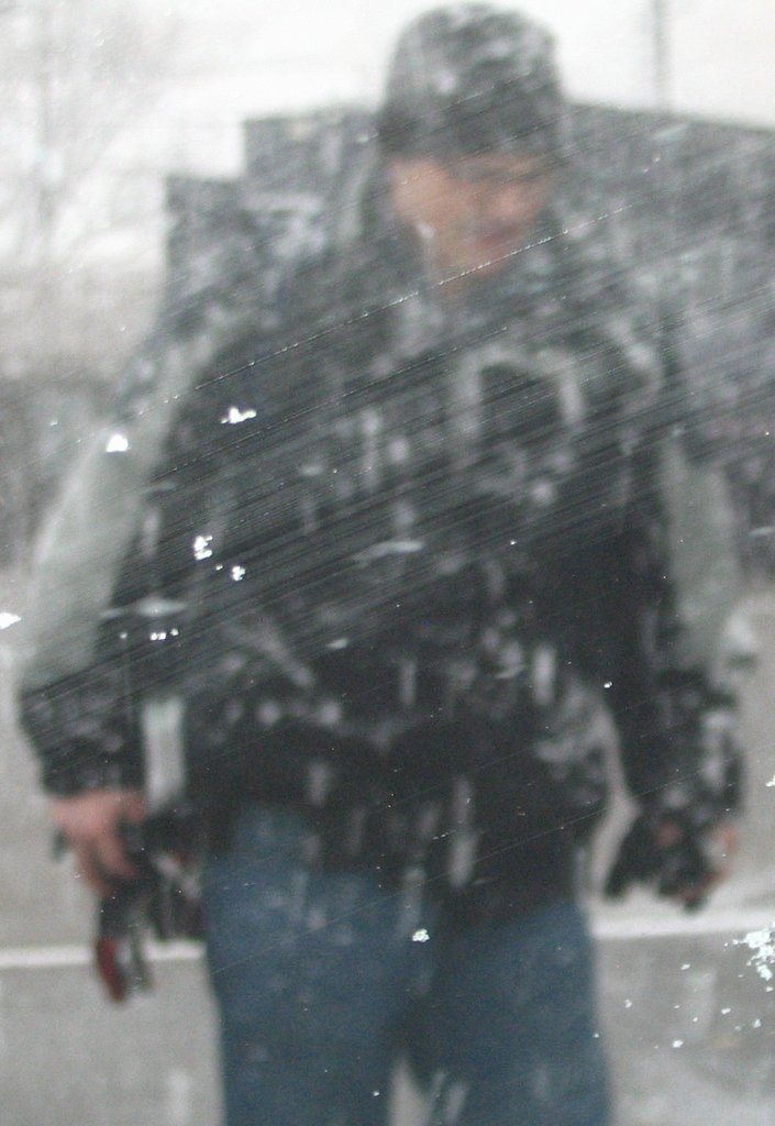 Erik, my brother, on a very snowy day!