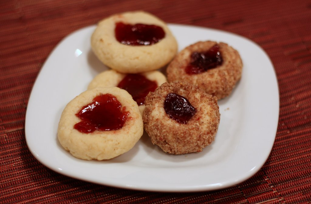 Raspberry Cream Cheese Thumbprints