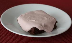 Raspberry Chocolate Freezer Cake
