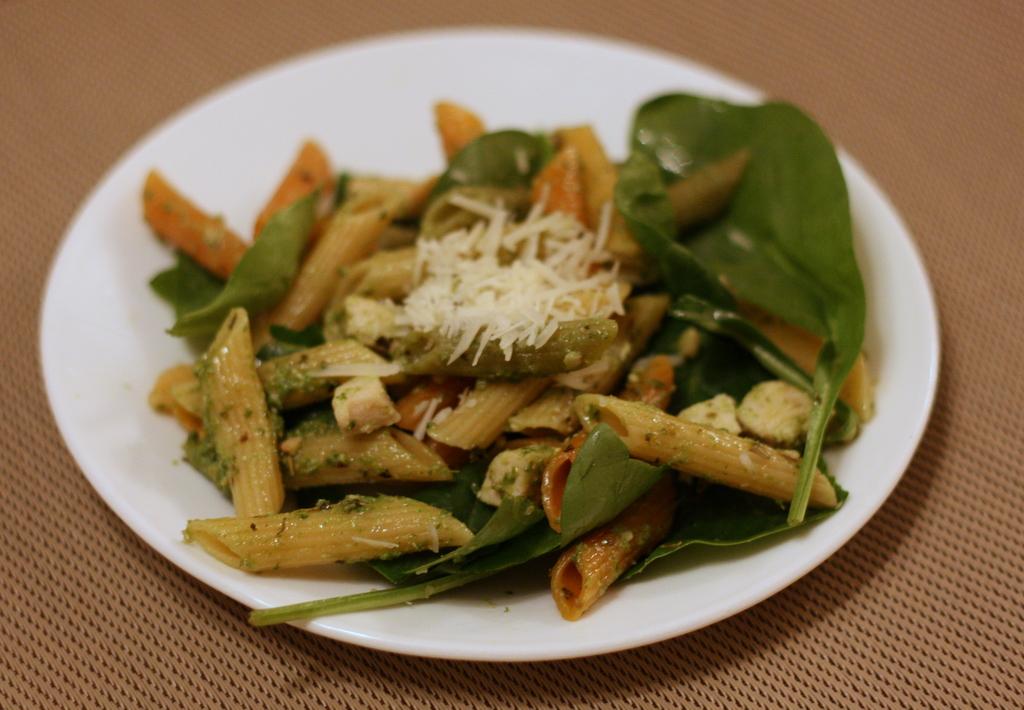 Chicken Pesto Pasta with Spinach